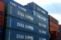 kontenery z towarami z Chin